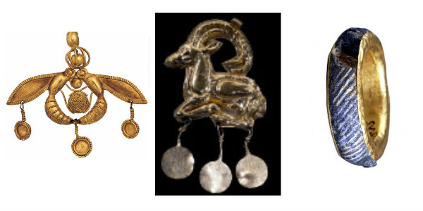 "Magnificent Minoan Jewelry from the Aigina Treasure.""The beginning of Ancient Greek Jewelry Culture"" SilverTownArt Greek Jewelry"