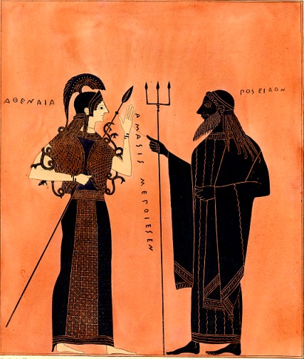 Athena and Pοseidon