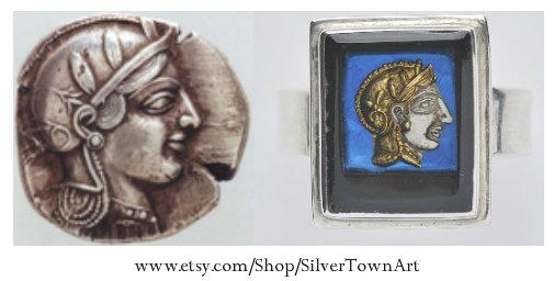 Athena Ring, SilverTownArt Greek Jewelry Shop
