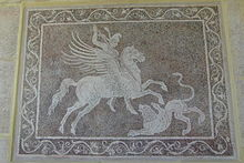 Bellerophon killing Chimaera, Pegasus Ring, SilverTownArt Greek Jewelry Shop