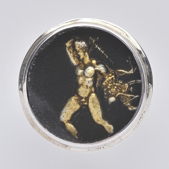 Hercules Ring, SilverTownArt Greek Jewelry Shop