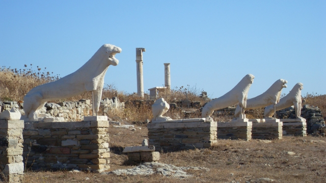 The Delos Island, birthplace of the God Apollo  remained strictly uninhabited, only to serve as sacred location of his worship
